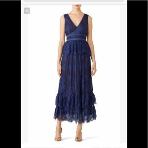 Parker Veronica 6 navy lace gown dress wedding